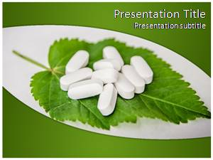 Herbal Pills Free Ppt Template Slide1