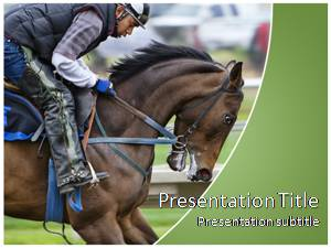 Horse Riding Free Ppt Template Slide1