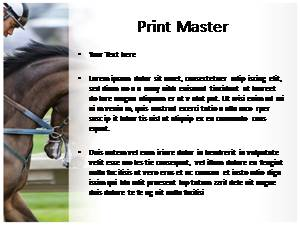 Horse Riding Free Ppt Template Slide3