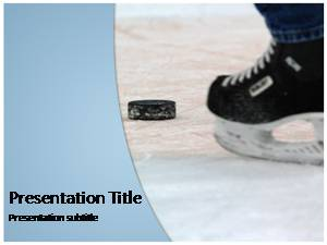 Ice Hockey Free Ppt Template Slide1
