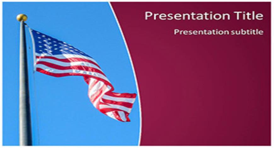 Free Usa Flag Powerpoint Template And Themes