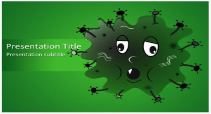 Germ Free PowerPoint Template and Background