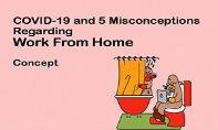 COVID-19 and 5 Misconceptions Regarding Work From Home PowerPoint Presentation