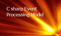 C sharp Event Processing Model PowerPoint Presentation