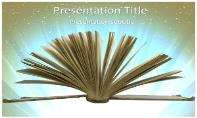 Open Book Free Ppt Template