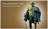 Mahatma Gandhi Free Ppt Template