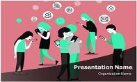Cell Phone Addiction Free Ppt Template