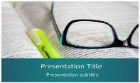 Books and Glasses Free Ppt Template