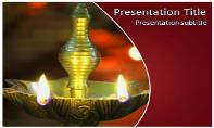 Diwali Lamp Free Ppt Template
