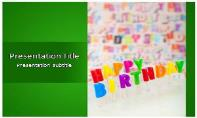 Happy Birthday Free Ppt Template