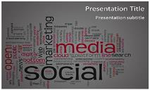 Social Media Words Free Ppt Templates