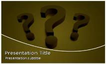 Question Mark Free Ppt Templates