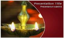 Diwali Lamp Free Ppt Templates