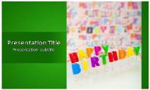 Happy Birthday Free Ppt Templates