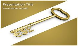 Valuable Key Free Powerpoint Template