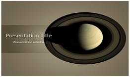 Saturn Free Powerpoint Template