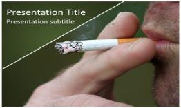 Smoking Free Powerpoint Template