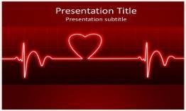 ECG Heart Beat Free Powerpoint Template