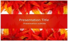 Leaf Abstract Free Powerpoint Template