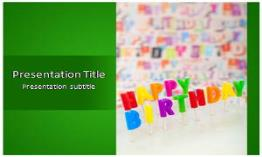 Happy Birthday Free Powerpoint Template