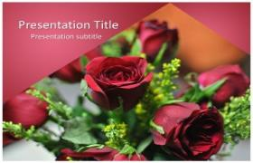 Free Rose PowerPoint Template
