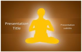 Free Yoga Meditation PowerPoint Template