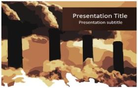 Free Global Warming Pollution PowerPoint Template