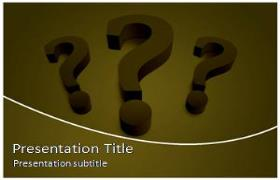 Free Question Mark PowerPoint Template