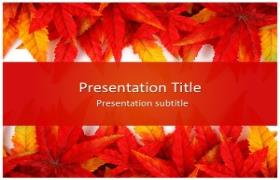Free Leaf Abstract PowerPoint Template