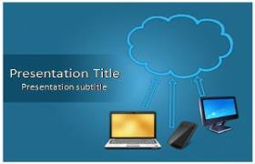 Free Cloud Computing Technology PowerPoint Template
