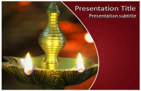 Free Diwali Lamp PowerPoint Template