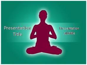 Yoga Asanas Free PowerPoint Template