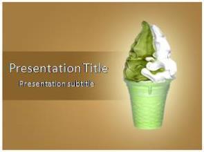 Ice Cream Free PowerPoint Template