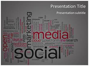 Social Media Words Free PowerPoint Template