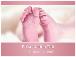 Baby Feet Free PowerPoint Template