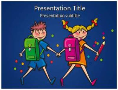 School Student Free PowerPoint Template