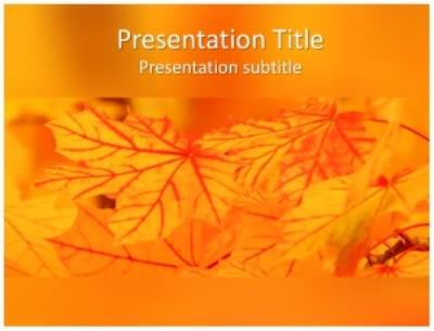 Nature Abstract Free PowerPoint Template