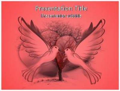 Love Birds Free PowerPoint Template