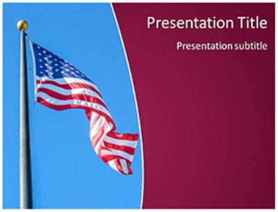 USA Flag Free PowerPoint Template