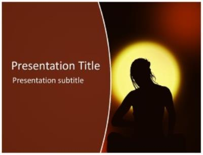 Woman Meditation Free PowerPoint Template