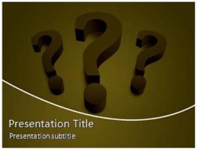 Question Mark Free PowerPoint Template