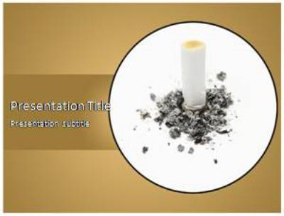 Quit Smoking Free PowerPoint Template