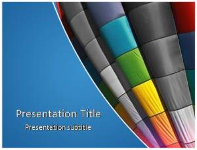 Air Baloon Free PowerPoint Template