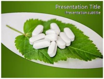 Herbal Pills Free PowerPoint Template