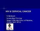 CERVICAL CANCER HIV Powerpoint Presentation