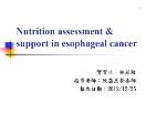 Nutrition assessment support in esophageal Cancer Powerpoint Presentation