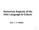 Irish humor Powerpoint Presentation
