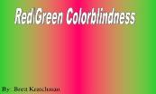 Red Green Colorblindness Powerpoint Presentation