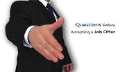 Questions Before Accepting a Job Offer Powerpoint Presentation
