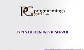 Types of Join in SQL Server Powerpoint Presentation